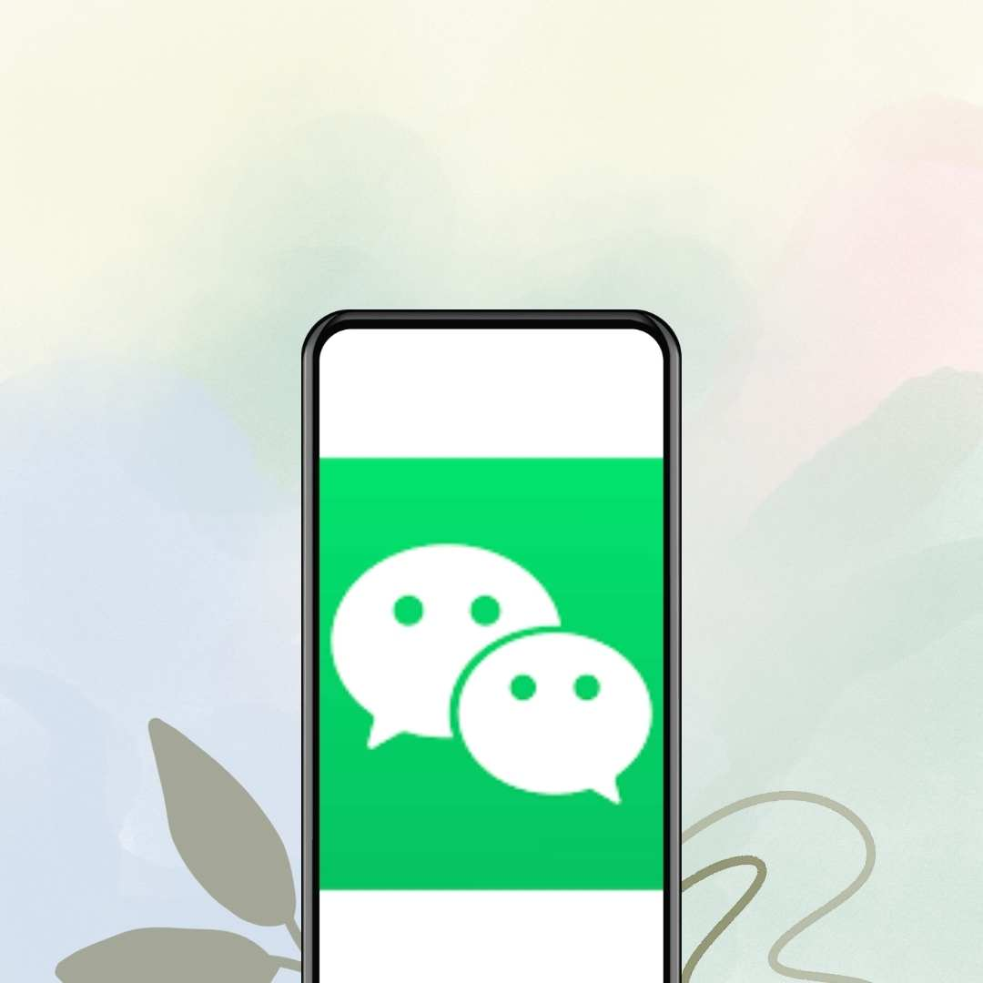 WeChat logo on mobile screen